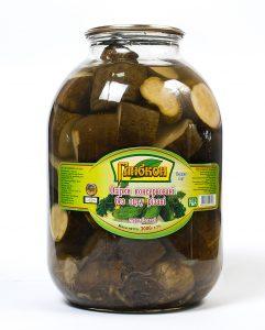 Огурцы консервированные резаные без уксуса