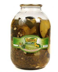 Кабачки консервированные резаные без уксуса