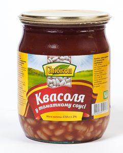 Фасоль в томатном соусе консервированная. Стерилизованная. Первый сорт